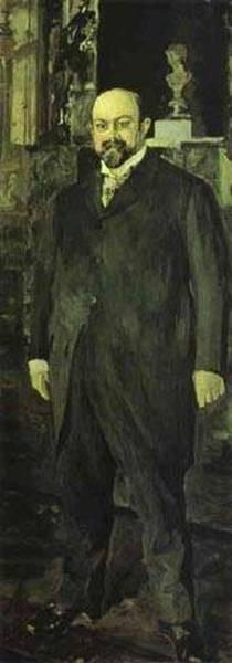 portrait of mikhail abramovich morozov 1902 XX the tretyakov gallery moscow russia